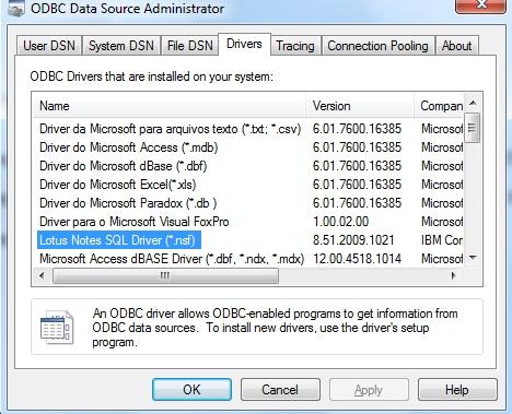Lotus Notessql 2.06 Driver Download