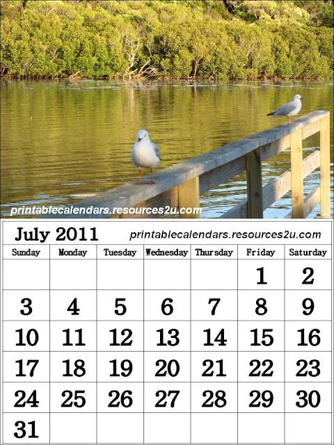 printable 2011 calendar. Calendar 2011 July printable