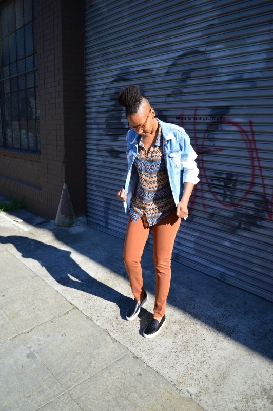 DIY bleached denim jacket pose 2 {who is that girl mo?}