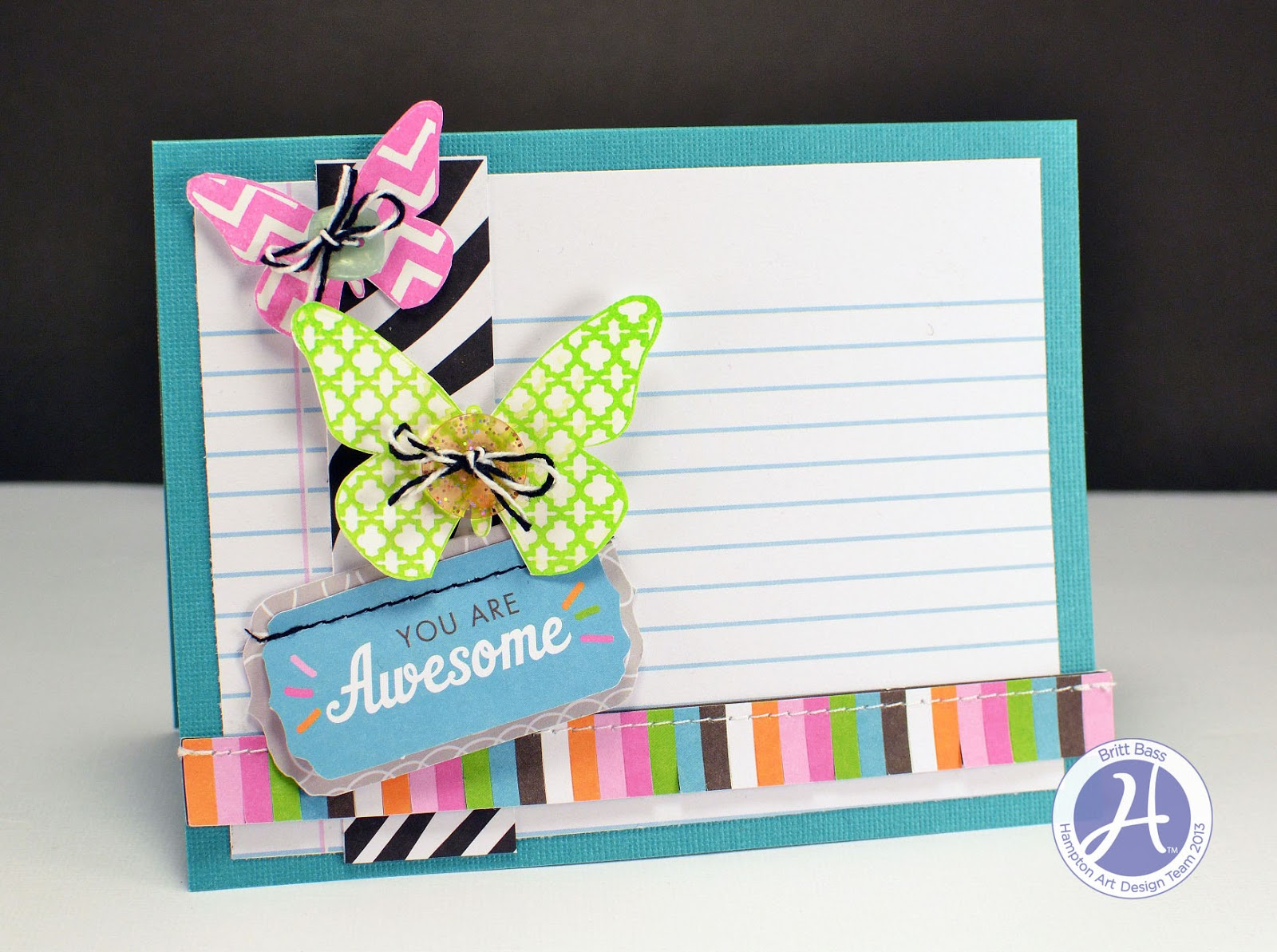 Hampton art blog 2 cards by britt bass and a quick and for Simple gifts to make for friends
