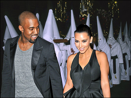 Kim Kardashian and Kanye West Stalked by the KKK