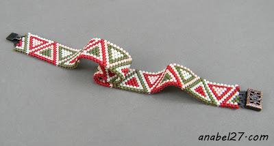 браслет из бисера украшения от anabel