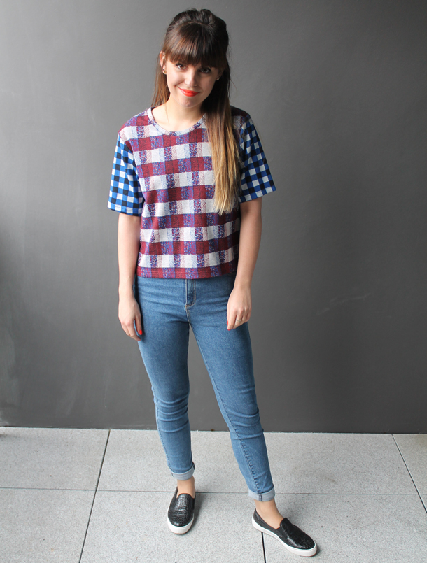 Sweet Monday, Topshop gingham crop top
