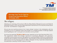 Message From Tan Sri Zam Isa - Leadership Changes in Mass Market 2014