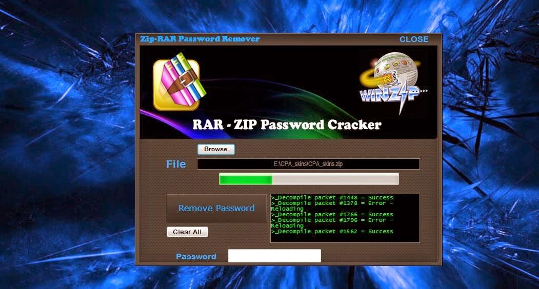 how to unlock a rar password