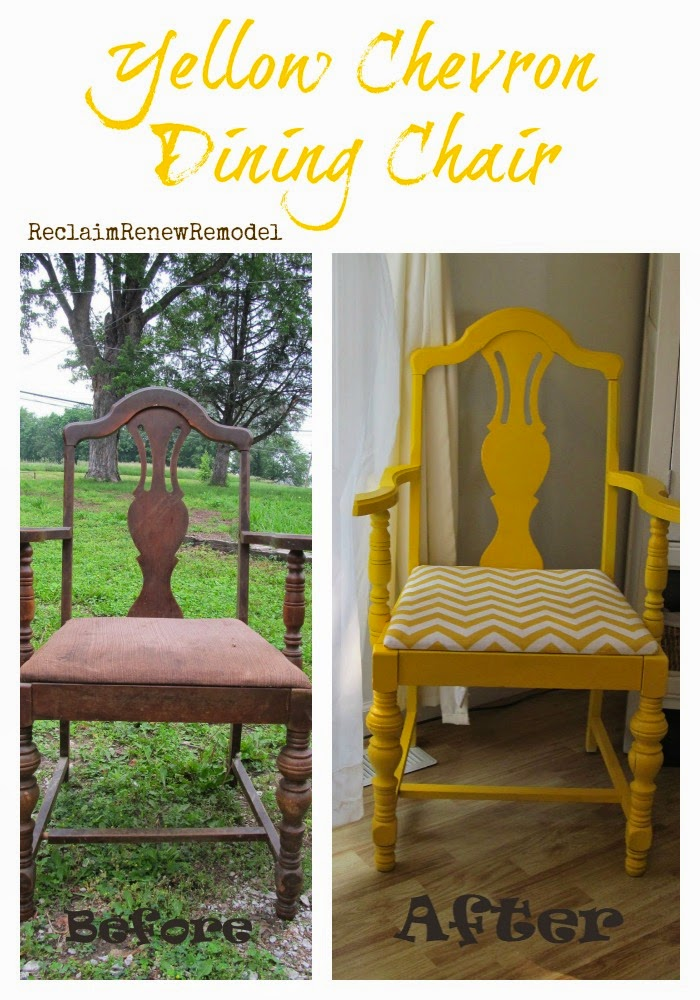 Yellow Chevron Dining Chair