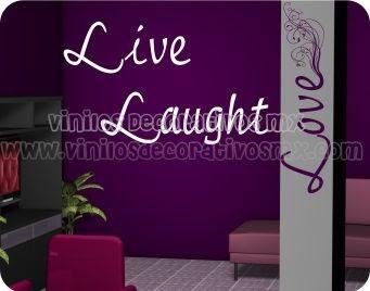 Vinilos decorativos textuales live laugh love 2 vinilos decorativos mexico para decoracion - Vinilos decorativos para exteriores ...
