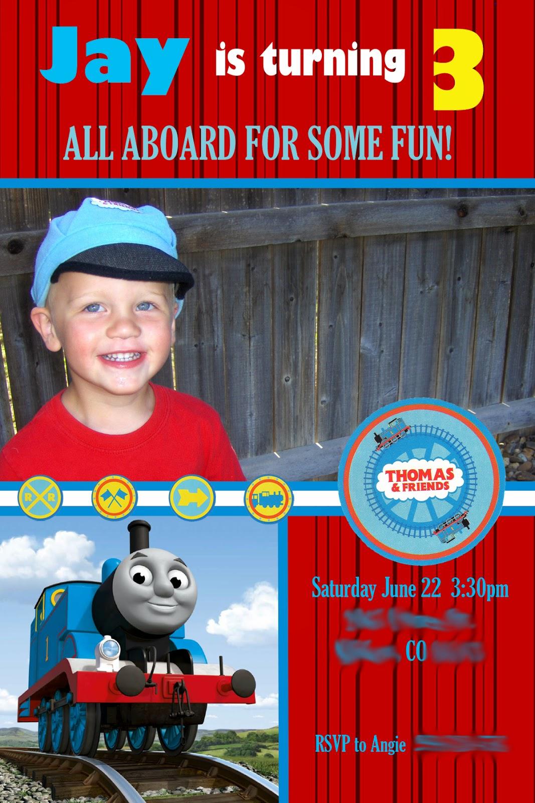 Nice Thomas And Friends Birthday Invitation Frieze - Invitations and ...