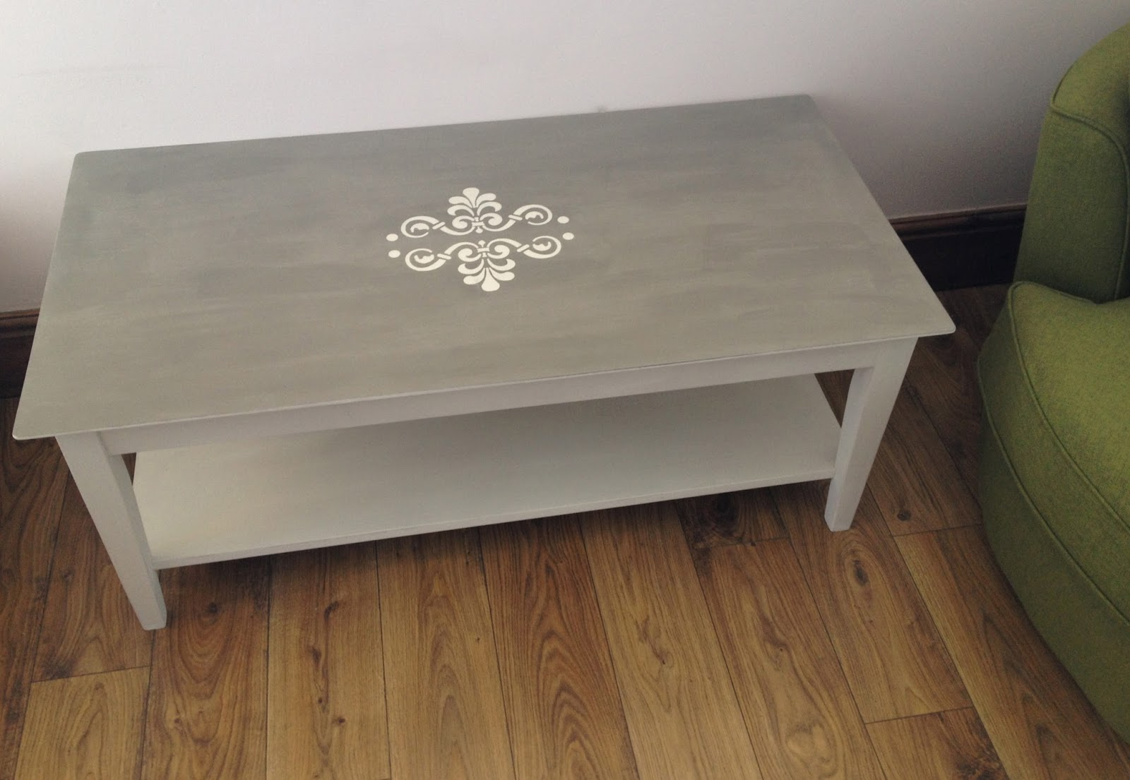 Large Coffee Table With Stencil