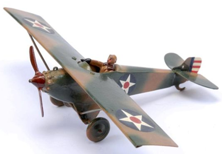 second world war camouflaged toy airplane