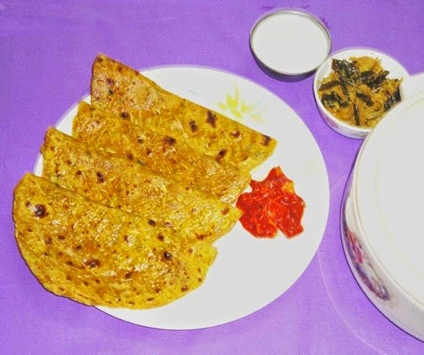 serve the lauki paratha