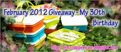 February 2012 Giveaway - My 30th Birthday