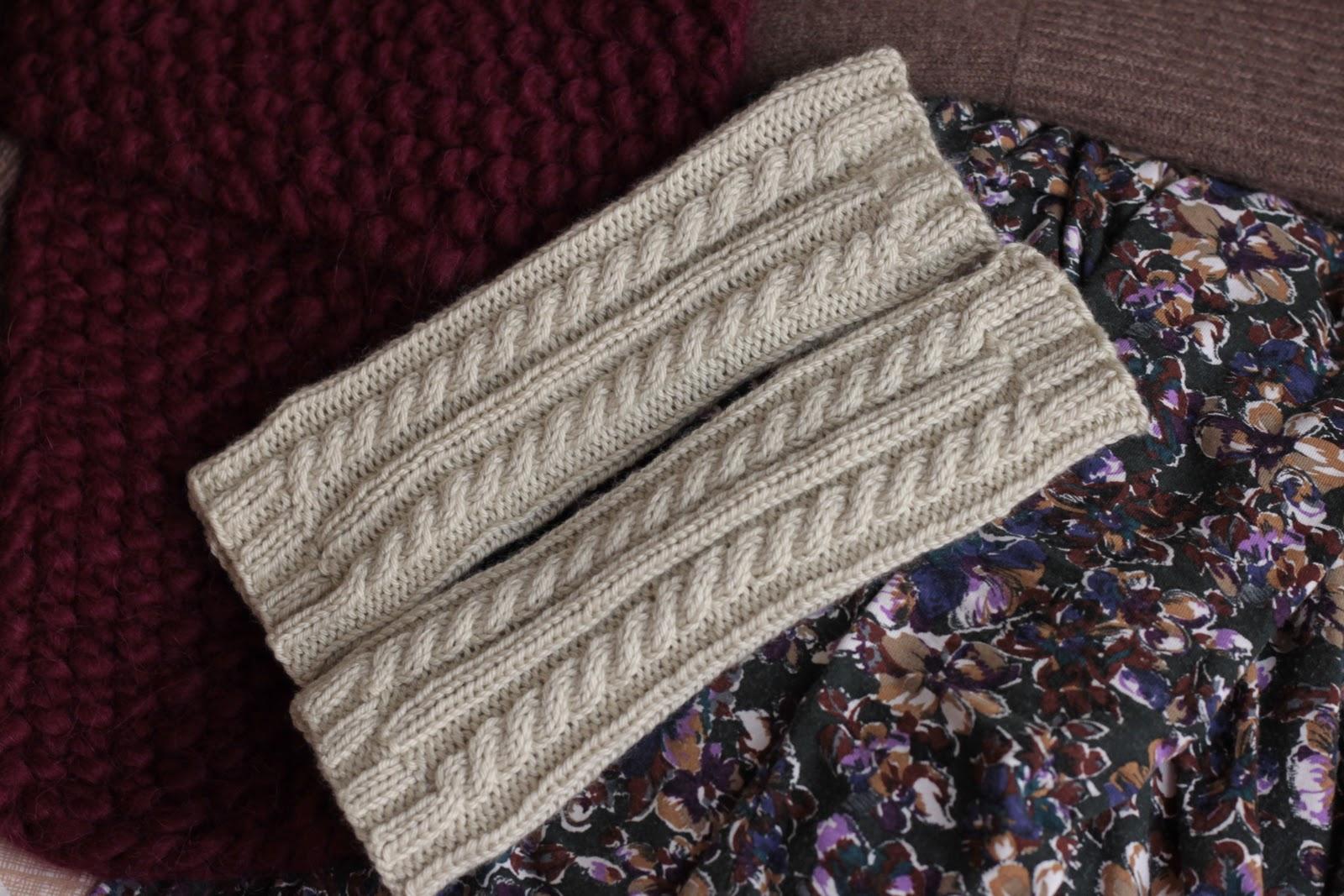 Wrist Warmer Knitting Pattern : KnittingPony: Cabled Wrist Warmers (Free Knitting Pattern)