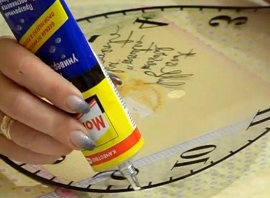 Como hacer bonito reloj de pared cositasconmesh - Hacer un reloj de pared ...