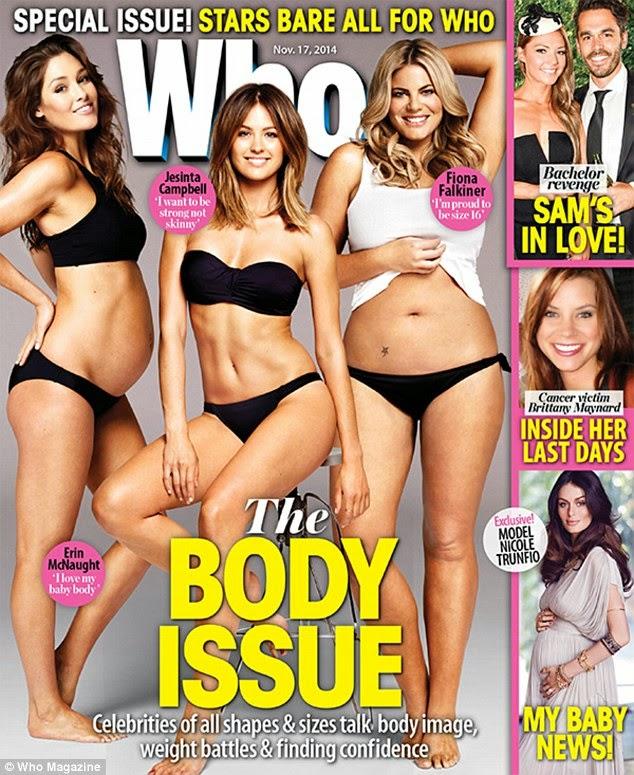 """الموديل الاسترالية """"ايرين ماكنات"""" تبدو سعيدة وهي حامل في صور لمجلة Who"""