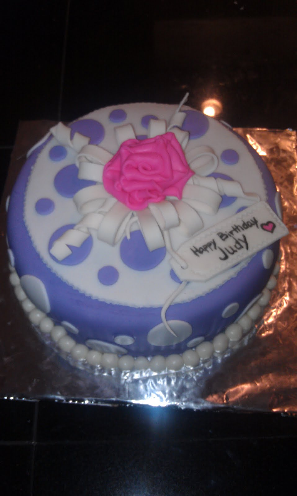 Katy S Kreative Cakes Happy Birthday Judy