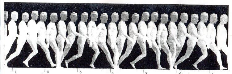 Cronofotografia da Locomoção Humana de Étiènne-Jules Marrey