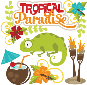 Tropical Paradise cut file set by Miss Kate Cuttables