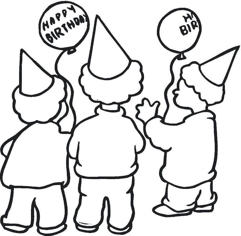 Happy Birthday Coloring Pages title=