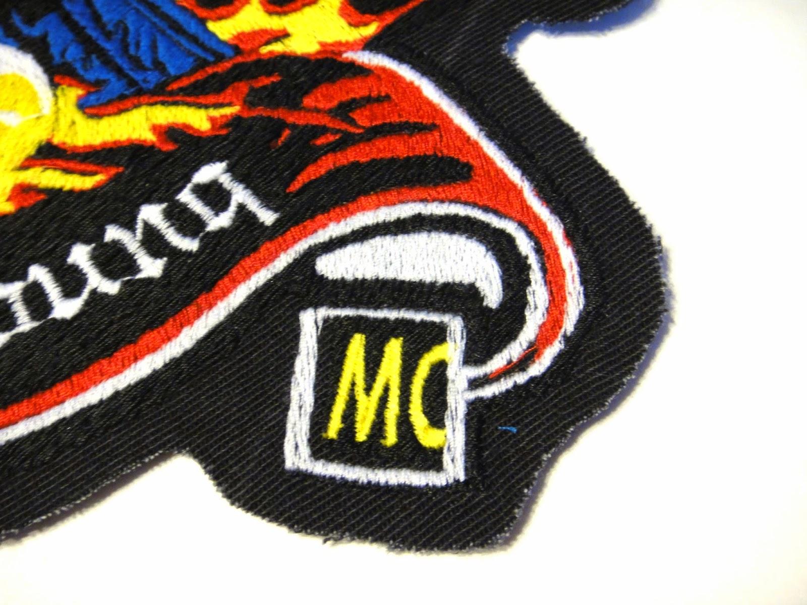 Логотипы для байкеров, нагрудные планки, МС - компьютерная вышивка на заказ