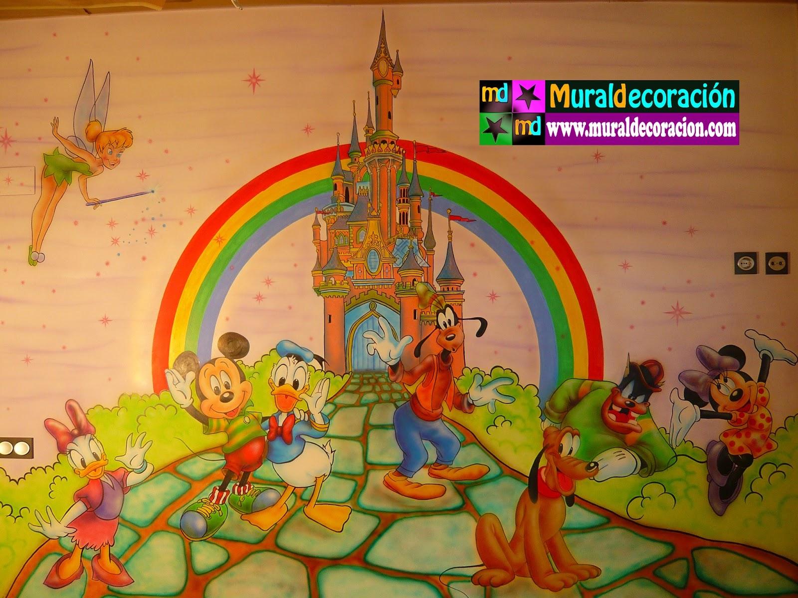 Murales infantiles aerografia minnie mouse mural infantil - Murales infantiles ...