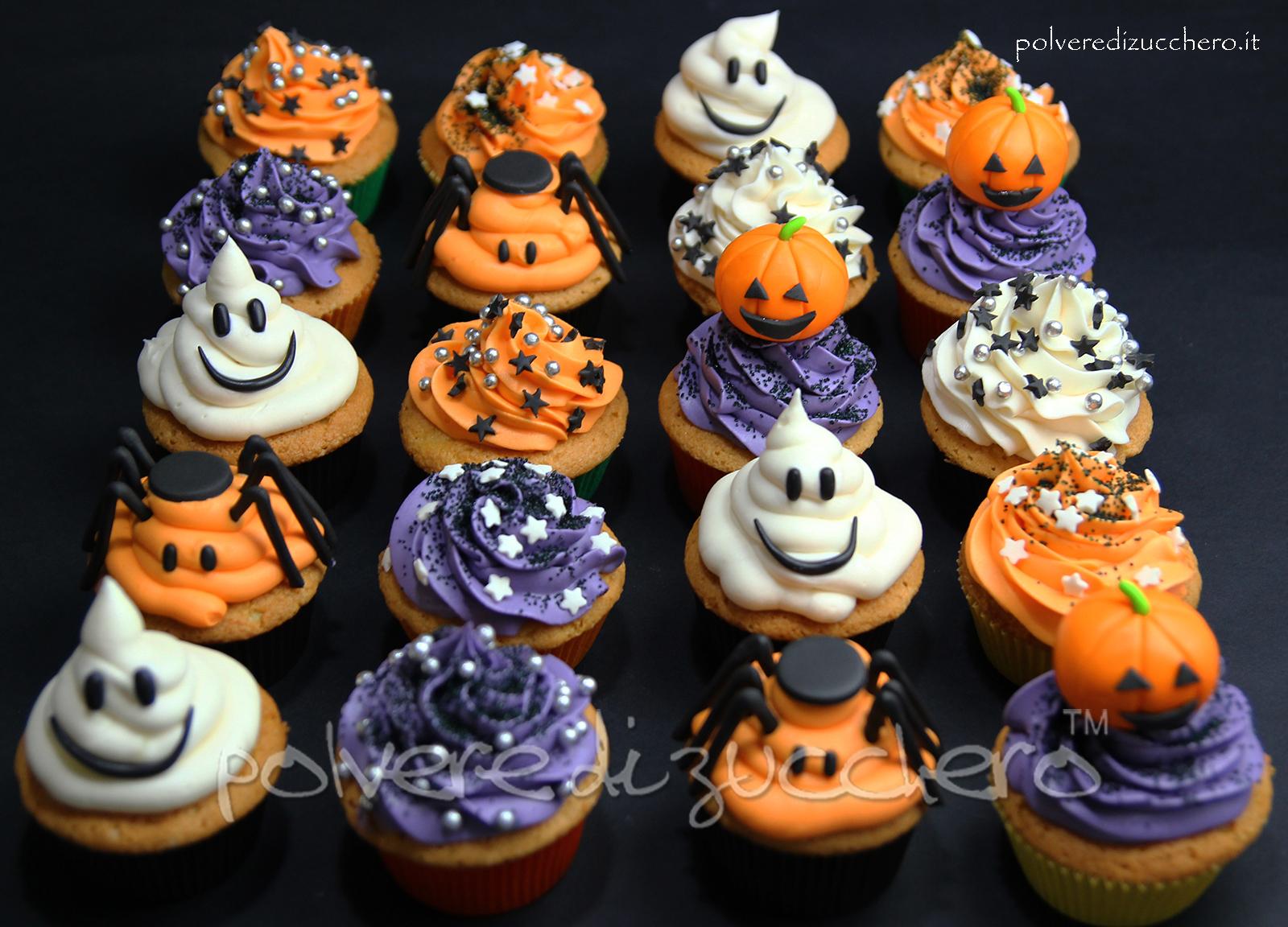 halloween cupcakes cake design frosting pasta di zucchero passo a passo tutorial