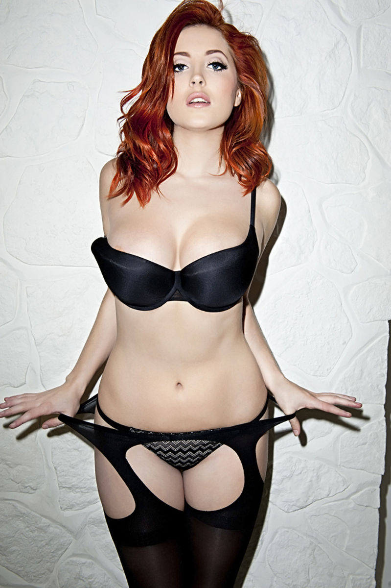 Lucy collett red lingerie
