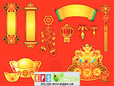 [Vector] - Chinese New Year decoration