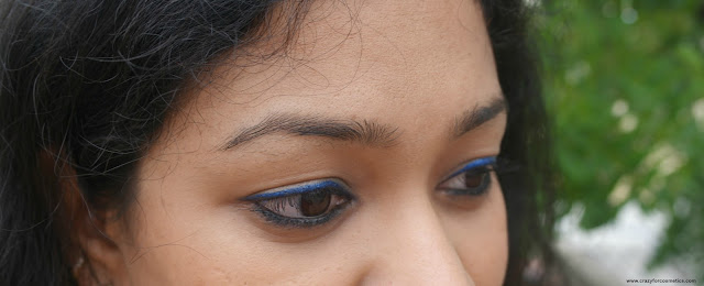 maybelline hyper glossy electrics eyeliner in electro shock EOTD