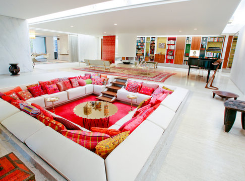 braxton and yancey Conversation Pits Retro Room Design From The