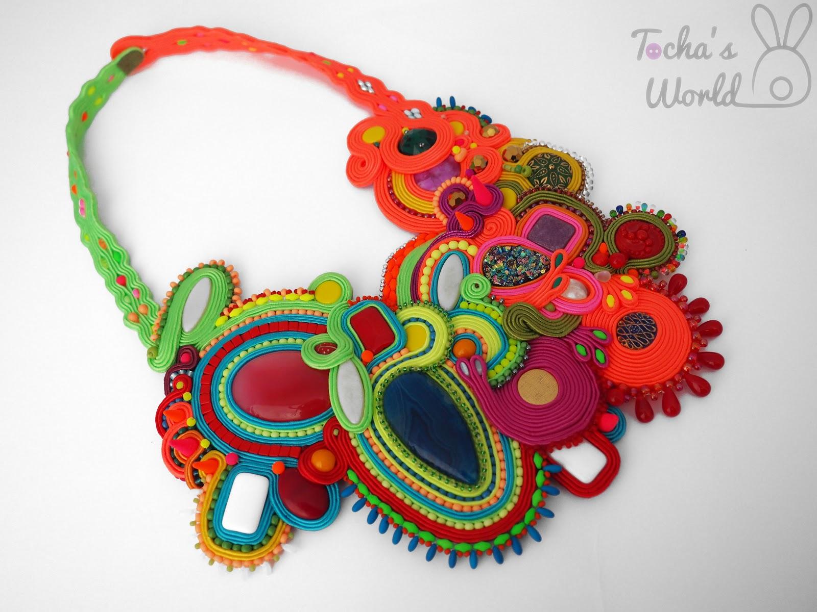 soutache, necklace, jewellery, Tocha's World