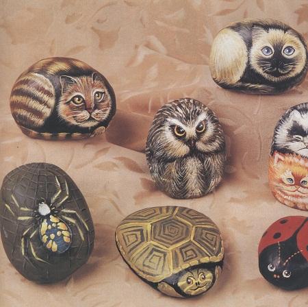 Pintura sobre piedra arte ecoresponsable for Pintura sobre piedras