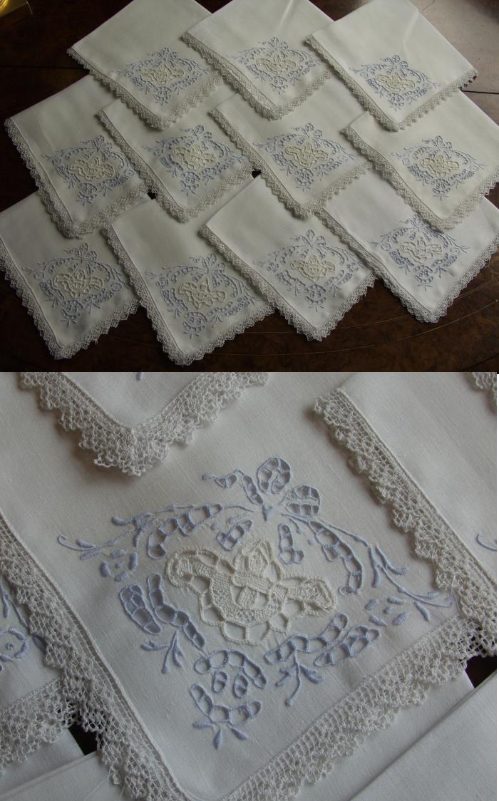 antique style  antique cocktail napkins and coasters