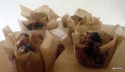 Breakfast blackberry Muffin by ng @ whats for dinner?