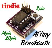 ATtiny breakout target board