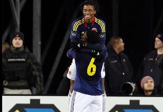 O jogador foi um dos destaques ofensivos da Colômbia