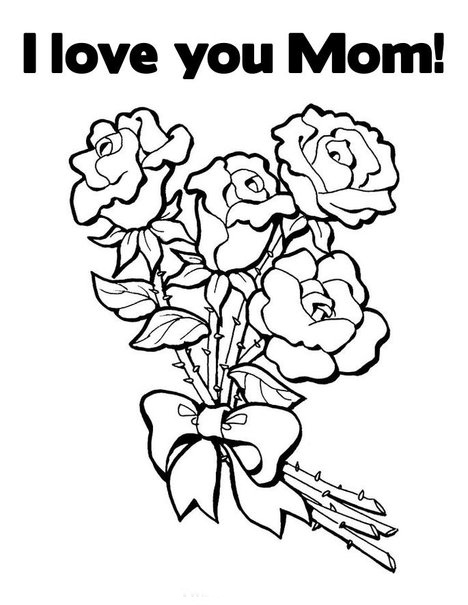 Love You Mom Coloring Pages title=