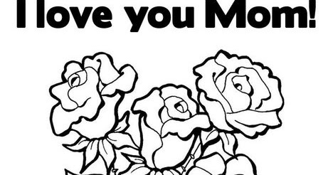 mothers day 2012 news: I Love You Mom Coloring Pages