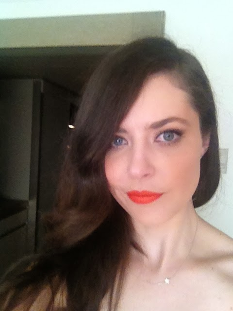 Hourglass orange lipstick