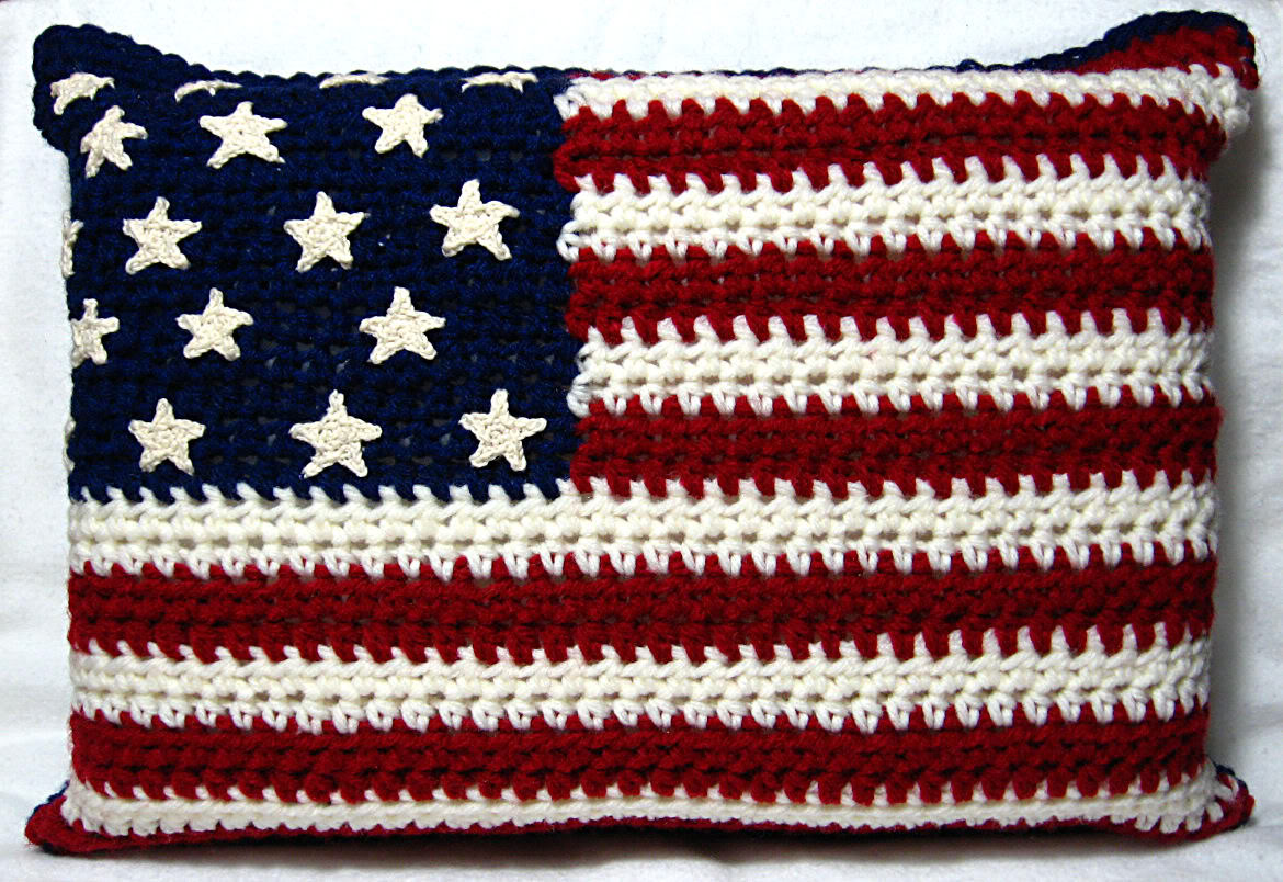 Crocheting Conversations Red White Blue