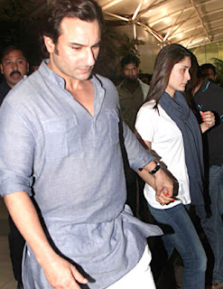 Saifeena and Hrithik Roshan spotted at airport