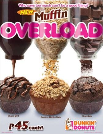 Dunkin' Donuts Overloaded Muffins