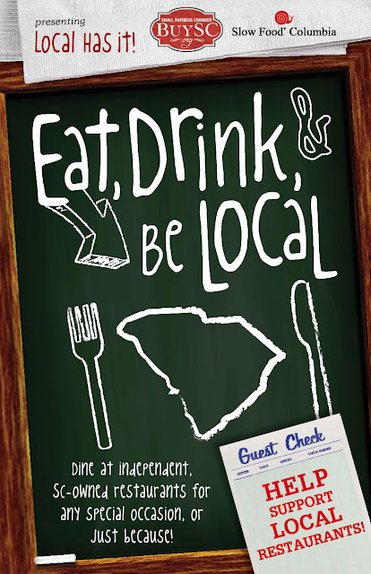 Eat, Drink and Be Local Postcard by Slow Food Columbia