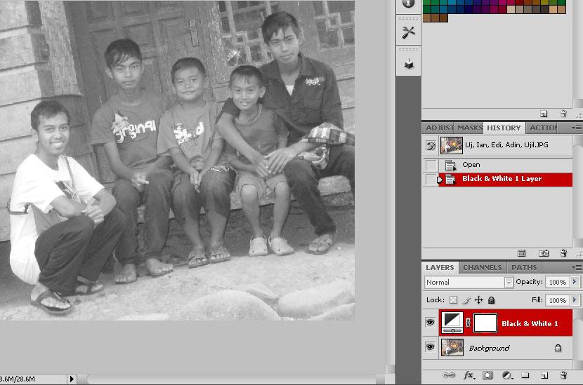 Cara Membuat Photo Black And White Terpilih langkah 2