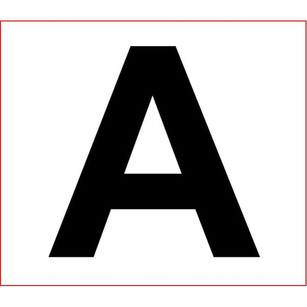 Impertinent image for large printable letters for banners