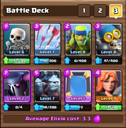 The entx gaming hub clash royale arena 5 decks to help for Deck pekka arene 6