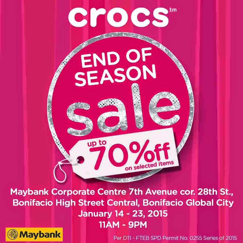 Crocs End of Season Sale