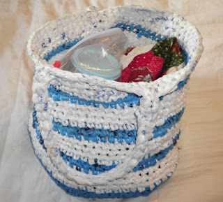 crocheted plastic bags bag