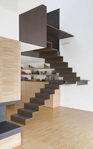 Marzua escaleras de interior minimalistas de roberto murgia - Escaleras de caracol minimalistas ...