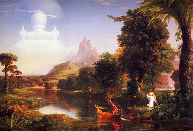 Thomas Cole voyage of life youth romanticism naturalism